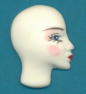 34x25mm White Mannequin Faces-Right