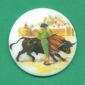 38mm Bull And Matador Picture Stone