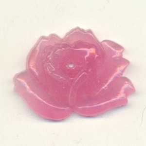 20x27mm Pink Glass Rose Stone
