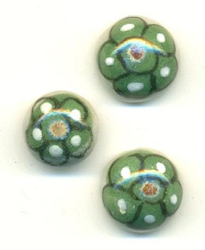 12.5-13.5mm Ceramic Flower Stones