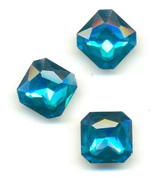12mm Aquamarine Square Octagon