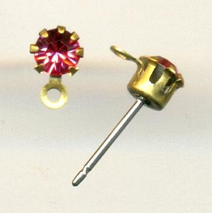 17ss Padparadscha RS Post Earrings 1R