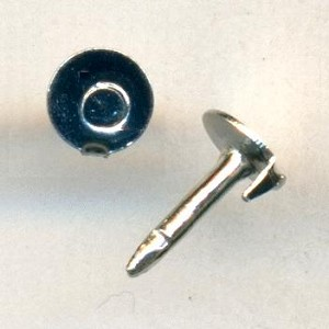 4.5mm Silver Plated Round Pins
