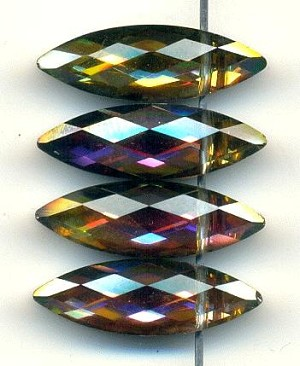 22x7mm Crystal AB Faceted Drops