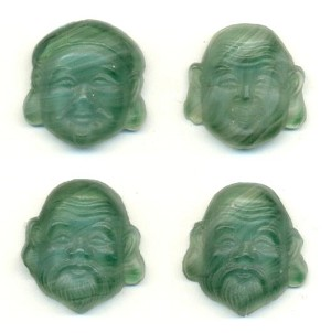 17x16mm Green Mask Stone (4)