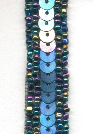 15mm Vitrial and Steel Gray Seed Bead