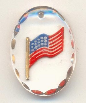 25x18mm RWB Flag Pendant