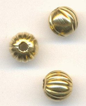 6mm Mixed Coragated Brass Beads