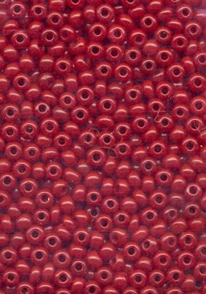 11/0 Dark Red Seed Beads