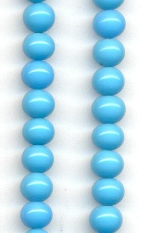 6mm Blue Turquoise Glass Beads