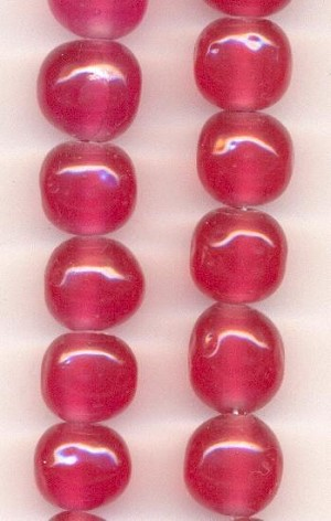 12mm Dark Rose Baroque Glass Beads