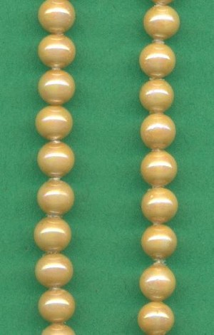 4mm Beige Glass Pearl Beads