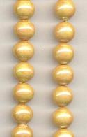 10mm Beige Glass Pearl Beads