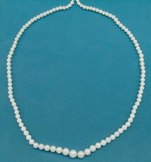 17'' Alabaster Graduated Glass Beads