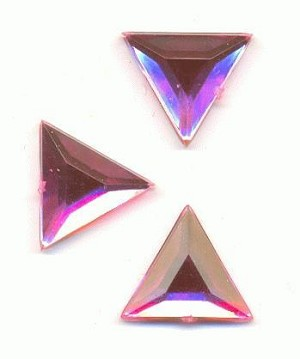 12.5mm Mixed Pink Acrylic Triangle FB RS