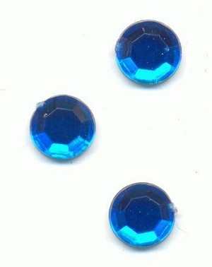 7mm Dark Aqua Acrylic Flat Back RS