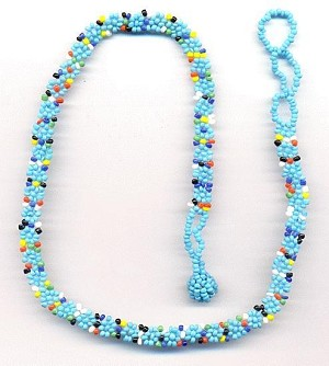 Turquoise/Multi-Color Seed Bead Choker