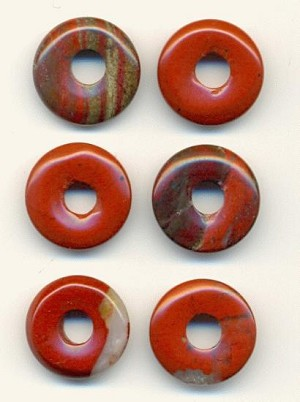15mm Red Jasper Donuts