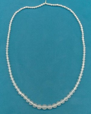17'' Milky Clear Graduated Bead Strands