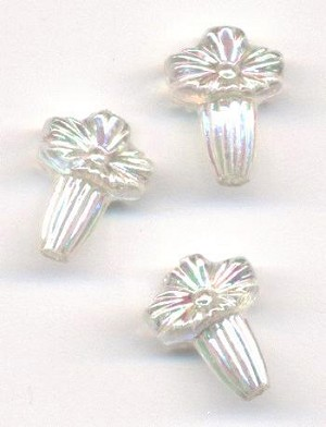 14x11mm Clear AB Acrylic Flower Beads